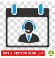 Reception Operator Calendar Day Eps Icon vector image vector image