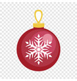 red fir tree ball icon flat style vector image