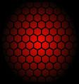 red hexagon honeycomb pattern design vector image vector image