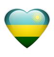Rwanda flag button vector image