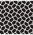 Seamless Black and White Rounded Mosaic vector image vector image