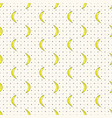 seamless pattern with bananas and polka vector image vector image
