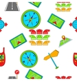 Search way pattern cartoon style vector image vector image