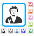 service operator framed pitiful icon vector image vector image