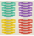 Set Flat Ribbons vector image