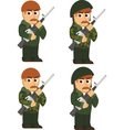 set of soldiers vector image vector image