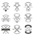 Set of vintage carpentry hand tools repair service vector image vector image