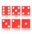 set red casino appearance with a cube vector image vector image