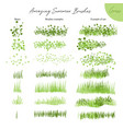 set summer grass ecology brushes vector image