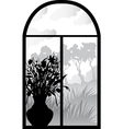 silhouette of retro window vector image