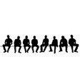 silhouette seated men set vector image vector image