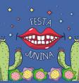 smile to celebrate the festa junina vector image vector image