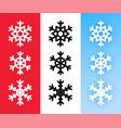snowflake icon set for christmas holiday vector image
