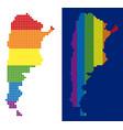 spectrum pixel dotted argentina map vector image
