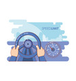 speed limit vehicle driving vector image