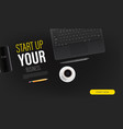 start up your business promo landing page vector image