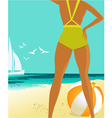 Summer background vector image vector image