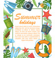 summer holidays flat poster vector image