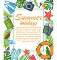 summer holidays flat poster vector image vector image