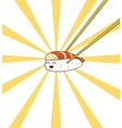 Sushi with chopsticks vector image