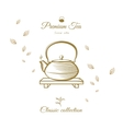 Tea design cover vector image