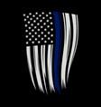 thin blue line american flag - blue line american