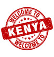 welcome to kenya red round vintage stamp vector image vector image