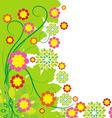 Springtime greeting card flower background vector image