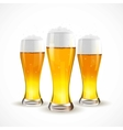 Realistic Isolated glass of beer vector image