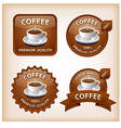 coffee glossy labels vector image