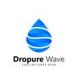 abstract drop wave logos design vector image vector image