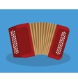 Accordion icon Music instrument graphic vector image