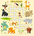 african animals crossword for children vector image