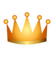 award crown honor winner success icon vector image vector image