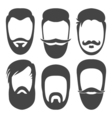 BeardsFlat vector image vector image