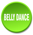 belly dance green round flat isolated push button vector image vector image