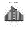 big city design vector image