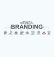 branding banner web icon for business and digital vector image