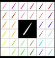 brush sign felt-pen 33 vector image vector image