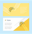 bun abstract corporate business banner template vector image vector image