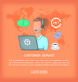 call center concept girl support cartoon style vector image vector image
