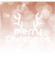 christmas card with horns and typography vector image vector image