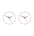 classic simple wall clock without numbers vector image