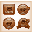 coffee glossy signs vector image vector image