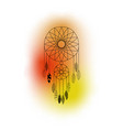 dreamcatcher with feathers and colorful vector image vector image