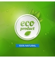 Eco product label vector image vector image