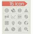 Economic icon set vector image vector image