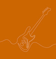 electric guitar continuous one line drawn vector image vector image
