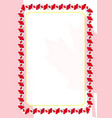 frame and border of ribbon with canada flag vector image