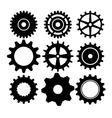 Gears cogs or wheels vector image vector image